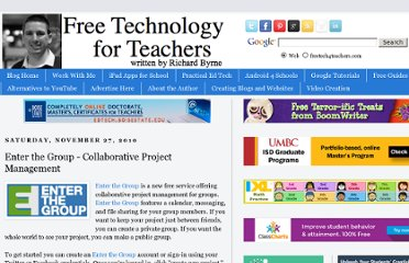 http://www.freetech4teachers.com/2010/11/enter-group-collaborative-project.html#.UVYj4tF-P0M