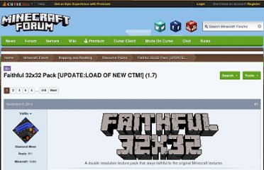 http://www.minecraftforum.net/topic/72747-faithful-32x32-pack-updatectm-support-15/