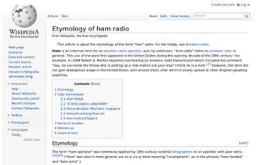 http://en.wikipedia.org/wiki/Etymology_of_ham_radio