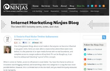 http://www.internetmarketingninjas.com/blog/social-media/tools-find-niche-twitter-influencers/