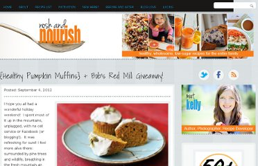 http://noshandnourish.com/content/healthy-pumpkin-muffins-bobs-red-mill-giveaway