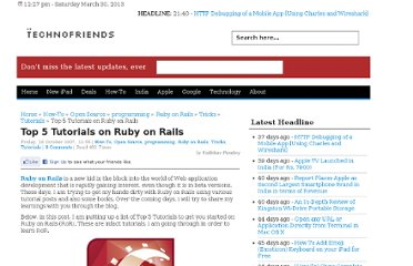 http://www.technofriends.in/2007/10/26/top-5-tutorials-on-ruby-on-rails/