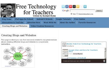 http://www.freetech4teachers.com/p/creating-effective-blogs-websites.html#.UVbBzNF-P0M