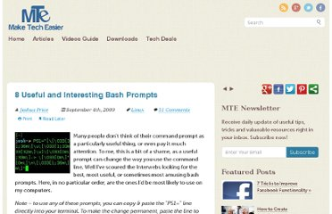 http://www.maketecheasier.com/8-useful-and-interesting-bash-prompts/2009/09/04