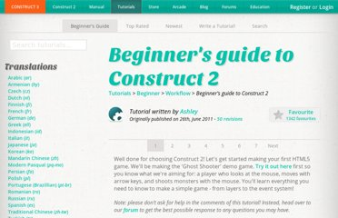 https://www.scirra.com/tutorials/37/beginners-guide-to-construct-2