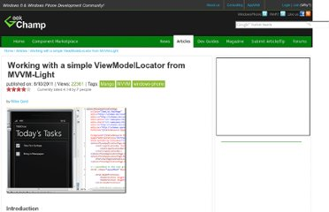 http://www.geekchamp.com/articles/working-with-a-simple-viewmodellocator-from-mvvm-lite