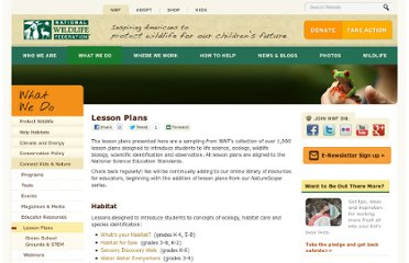 http://www.nwf.org/What-We-Do/Kids-and-Nature/Educators/Lesson-Plans.aspx