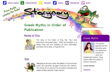 http://www.storynory.com/category/educational-and-entertaining-stories/greek-myths/