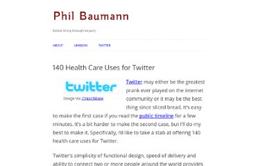 http://philbaumann.com/140-health-care-uses-for-twitter/