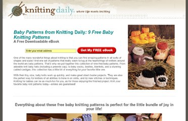 http://www.knittingdaily.com/Free-Baby-Knitting-Patterns/default.aspx