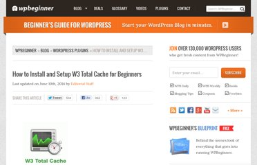 http://www.wpbeginner.com/plugins/how-to-install-and-setup-w3-total-cache-for-beginners/