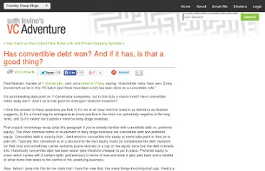 http://www.sethlevine.com/wp/2010/08/has-convertible-debt-won-and-if-it-has-is-that-a-good-thing