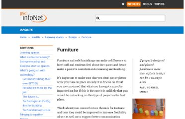 http://www.jiscinfonet.ac.uk/infokits/learning-spaces/design/furniture/