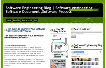 http://www.dzone.com/links/r/10_way_to_improve_your_software_development_proce.html