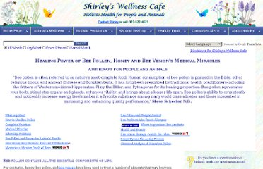 http://www.shirleys-wellness-cafe.com/NaturalFood/Bee.aspx