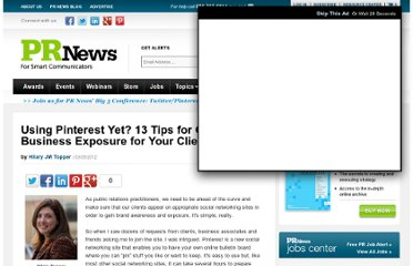 http://www.prnewsonline.com/featured/2012/03/05/using-pinterest-yet-13-tips-for-gaining-business-exposure-for-your-clients/