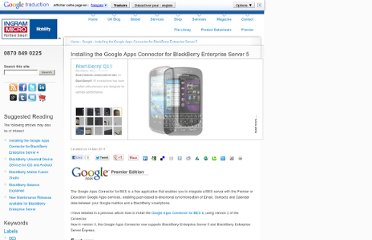 http://ukblog.im-mobility.com/installing-google-apps-connector-blackberry-enterprise-server-5