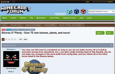 http://www.minecraftforum.net/topic/1495041-151-forge-biomes-o-plenty-new-music-disc-v047/