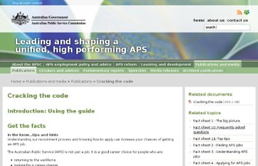 http://www.apsc.gov.au/publications-and-media/current-publications/cracking-the-code