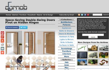 http://dornob.com/space-saving-double-swing-doors-pivot-on-hidden-hinges/#axzz2P3JEa9hR