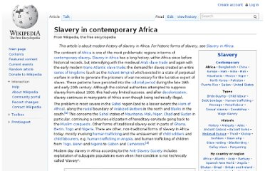 http://en.wikipedia.org/wiki/Slavery_in_contemporary_Africa