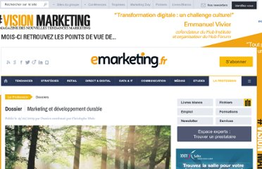 http://www.e-marketing.fr/Dossiers/Marketing-et-developpement-durable-2/Sommaire.htm