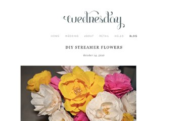 http://wednesdaycustomdesign.com/blog/2010/10/14/diy-streamer-flowers.html