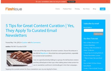 http://www.flashissue.com/blog/5-tips-for-great-content-curation-yes-they-apply-to-curated-email-newsletters/