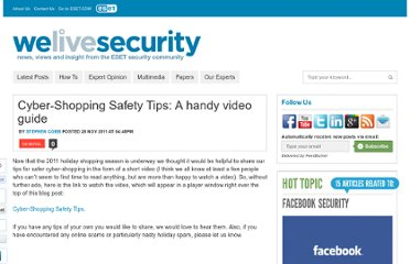 http://www.welivesecurity.com/2011/11/28/cyber-shopping-safety-tips-a-handy-video-guide/