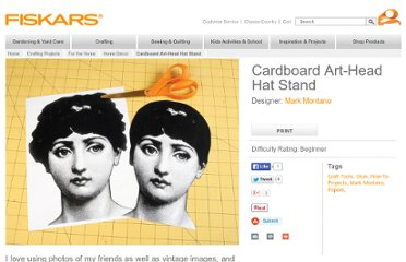 http://www2.fiskars.com/Crafting/Projects/For-the-Home/Home-Decor/Cardboard-Art-Head-Hat-Stand#.UVepkdGI70M