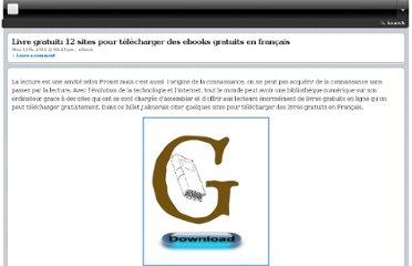 http://geekob.com/livre-gratuit-12-sites-telecharger-ebooks-gratuits/