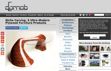http://dornob.com/niche-carving-5-ultra-modern-plywood-furniture-products/#axzz2OzHBeT4w