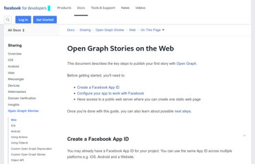 https://developers.facebook.com/docs/opengraph/getting-started/