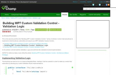 http://www.geekchamp.com/articles/building-wp7-custom-validation-control---validation-logic