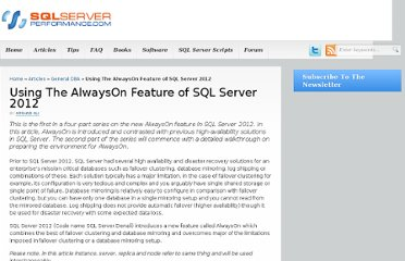 http://www.sql-server-performance.com/2013/alwayson-clustering-failover/