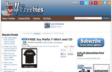 http://hunt4freebies.com/free-t-shirts-hats/