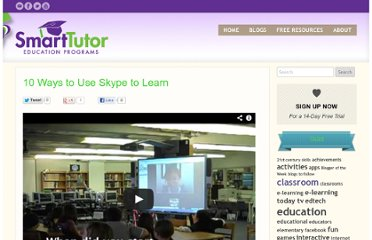 http://thinkonline.smarttutor.com/10-ways-to-use-skype-to-learn/