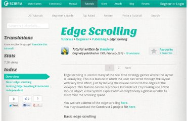 https://www.scirra.com/tutorials/267/edge-scrolling