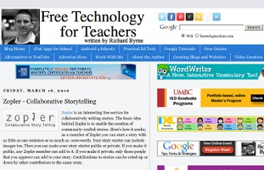 http://www.freetech4teachers.com/2012/03/zopler-collaborative-storytelling.html#.UVgF3NGI70M