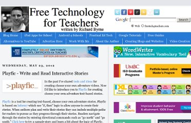 http://www.freetech4teachers.com/2012/05/playfic-write-and-read-interactive.html#.UVgW_tGI70N