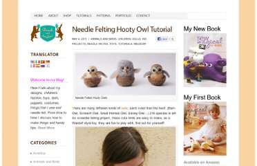 http://www.lauraleeburch.com/2011/05/needle-felting-hooty-owl-tutorial/