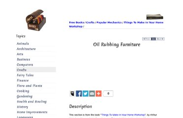 http://chestofbooks.com/crafts/popular-mechanics/Things-To-Make-In-Home-Workshop/Oil-Rubbing-Furniture.html#.UVgjftGI70M