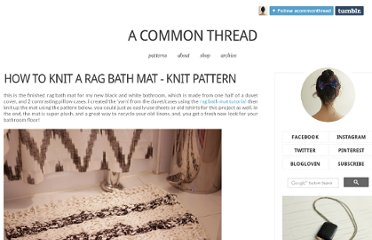 http://blog.a-common-thread.com/post/41608381264/how-to-knit-a-rag-bath-mat-knit-pattern#.UVgmatGI70M