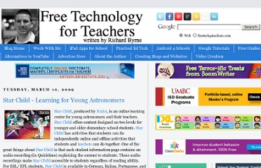http://www.freetech4teachers.com/2009/03/star-child-learning-for-young.html#.UVgs8tGI70M