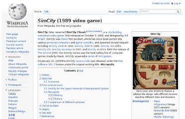 http://en.wikipedia.org/wiki/SimCity_(1989_video_game)#Micropolis