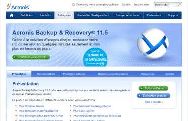 http://www.acronis.fr/backup-recovery/smallbusiness.html#overview