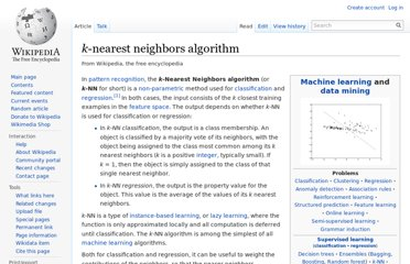 http://en.wikipedia.org/wiki/K-nearest_neighbors_algorithm