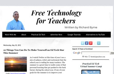 http://www.freetech4teachers.com/2012/05/10-things-to-make-yourself-ed-tech-star.html#.UVhKytGI70M