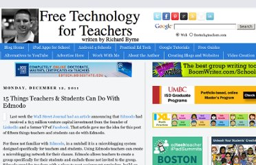 http://www.freetech4teachers.com/2011/12/15-things-teachers-students-can-do-with.html#.UVhTy9GI70M