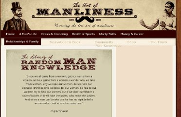 http://www.artofmanliness.com/man-knowledge/3661